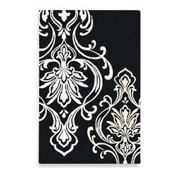 Candice Olson Modern Classics Rug by Surya, Black and White - I love that you can lay this huge carpet in a room and make a big statement, but, at the same time, it's not too busy.