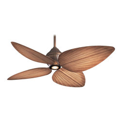 "Minka Aire - Minka Aire F581-ORB Gauguin Oil Rubbed Bronze 52"" Outdoor Tropical Ceiling Fan - Features:"