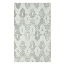 """nuLOOM - Contemporary 7' 6"""" x 9' 6"""" Lt Grey Hand Hooked Area Rug Cotton and Wool Trellis - Made from the finest materials in the world and with the uttermost care, our rugs are a great addition to your home."""
