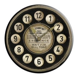 """Floating Circus - London Telegraph Clock 30"""" - Antiqued in all the right places this London Telegraph Clock"""
