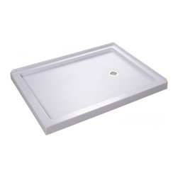 "DreamLine - DreamLine DLT-1036482 SlimLine Shower Base - DreamLine SlimLine 36"" by 48"" Double Threshold Shower Base Right Hand Drain"