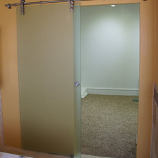 Contemporary Interior Doors by Frameless Glass Systems