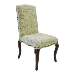 Armen Living - Armen Living Madeleine Vintage French Script Side Chair (Set of 2) - Armen Living - Dining Chairs - LC3161VISC