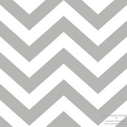 Casart coverings - Libby Langdon Collection - Chic Chevron - Silver Gray Chic Chevron from Libby Langdon Collection for Casart removable wallcoverings