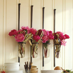 Artisanal Wall-Mount Vase - Wall-mounted vases in unexpected places are an easy way to add a fresh pop of color to a room. Mount a collection or a single one, depending on how much room you have and the impact you want to make.