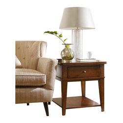 Hooker Furniture - Hooker Furniture Wendover End Table - Hooker Furniture - End Tables - 103781113 - Wendover's style is relaxed and casual, but it works hard to make it easy for you to find a solution for virtually any home office or home entertainment need.