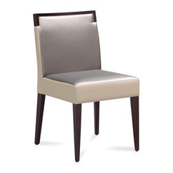 "Domitalia - Ariel Dining Chair (Set of 2) - Features: -Beechwood frame.-Upholstered back, seat and sides.-48% Polyurethane, 31% cotton, 21% polyester.-200,000 Abrasion resistance cycles.-Ariel collection.-Trim is white, not beige or cream as pictured..-Collection: Ariel.-Finish: Wenge.-Distressed: No.-Powder Coated Finish: No.-Gloss Finish: No.-Frame Material: Wood.-Solid Wood Construction: Yes.-Number of Items Included: 1.-Non-Toxic: Yes.-Weather Resistant or Weatherproof: No.-Scratch Resistant: Yes.-Stain Resistant: Yes.-Fire Retardant: Yes.-Mildew Resistant: No.-Arms Included: No.-Upholstered Seat: Yes -Seat Upholstery Material: Polyester.-Seat Upholstery Color: White and grey.-Removable Seat Cushions: No.-Seat Cushion Fill Material: Foam.-Removable Seat Cushion Cover: No.-Tufted Seat Upholstery: No.-Welt on Seat Cushions: No..-Upholstered Back: Yes -Back Upholstery Material: Polyester.-Removable Back Cushions: No.-Back Cushion Fill Material: Foam.-Removable Back Cushion Cover: No..-Nailhead Trim: No.-Swivel: No.-Foldable: No.-Stackable: No.-Number of Legs: 4.-Leg Material: Beechwood.-Casters: No.-Protective Floor Glides: Yes.-Adjustable Height: No.-Ergonomic Design: No.-Saddle Seat: No.-Outdoor Use: No.-Weight Capacity: 300 lbs.-Swatch Available: Yes.-Commercial Use: Yes.-Recycled Content: No.-Eco-Friendly: Yes.-Product Care: Wipe clean with a dry cloth.-Country of Manufacture: Italy.Specifications: -FSC Certified: No.-ISTA 3A Certified: No.-General Conformity Certificate: No.-Green Guard Certified: No.-ISO 14000 Certified: Yes.-ANSI BIFMA Certified: No.Dimensions: -Overall Height - Top to Bottom: 34"".-Overall Width - Side to Side: 19.75"".-Overall Depth - Front to Back: 23.75"".-Seat Height: 18.5"".-Seat Width - Side to Side: 19.75"".-Seat Depth - Front to Back: 22.75"".-Overall Product Weight: 22 lbs.Assembly: -Assembly Required: No.-Additional Parts Required: No.Warranty: -Product Warranty: 1 year."