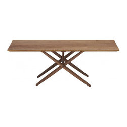 """Artek - Domino Coffee Table - Features: -Coffee table.-Table top of solid birch and plywood, with surface and background veneer.-Frame of solid wood.-Deigned in 1954.-Overall: 16.9"""" H x 47.2"""" W x 23.6"""" D, 140 lbs.-Distressed: No.-Country of Manufacture: Finland.Dimensions: -Total thickness: 25 mm.-Overall Product Weight: 140 lbs."""