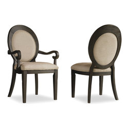 Hooker Furniture - Hooker Furniture Set of 2 Corsica Oval Back Arm Chair 5280-75402 - Like the Mediterranean island for which its named, Corsica is a melting pot of timeless design influences with a sun washed ambience and a casual attitude.