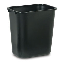 Rubbermaid Commercial Products 28-Quart Black Wastebasket