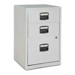 Empire Office Solutions - Bisley 2-Drawer Home Filing Cabinet in Light Gray Steel - The Bisley home filers are the perfect product for those seeking practical filing solutions with a small budget. Bisley home filers are designed primarily for small office, under desk storage.