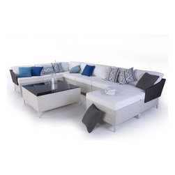 Vicky Collection Outdoor Sectional Sofa and Chairs - Vicky Collection of outdoor sofa, lounge chairs and coffee table from Steve&James.