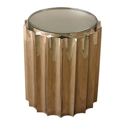 Global Views - Fluted Column Table - A contemporary spin on a classic fluted Greek column.
