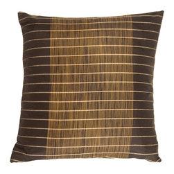 Pillow Decor - Pillow Decor - Charcoal Stripes and Strands Decorative Pillow - Charcoal Stripes and Strands Decorative Pillow