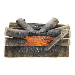 Pleasant Hearth Electric Crackling Natural Wood Log Fire with Glowing Ember Bed - Enjoy the ambient light and sound of a real fire with the Pleasant Hearth Electric Crackling Natural Wood Log Fire with Glowing Ember Bed and Sound Effects! This attractive accessory sits inside your fireplace and is made from real wood with glowing ember effects. No heat is generated but that means you'll never have to worry about soot and smoke either! CSA approved and made in the USA.About GHP GroupGHP Group creates electric fireplaces, accessories, log sets, and other heating options found in homes across America. With years of experience and a close attention to detail, their products exceed industry standards of safety, quality, durability, and functionality. Whether you're warming a room or just making a relaxing glow, there's a GHP Pleasant Hearth product for you.