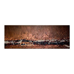 Matthew's Art Gallery - Oil Painting Abstract Art on Canvas Bronze Line - The Painting:  Bronze Line