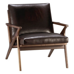 Cavett Leather Chair - Maybe your style is a little more masculine? In this case, this chair is the perfect item for you. Its clean lines and soft leather will work in most rooms and look great for years.