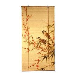 Oriental Unlimted - Love Birds Bamboo Blinds (36 in. Wide) - Choose Size: 36 in. WideThese stunning bamboo matchstick blinds feature an elegant love birds on branches design. Easy to hang and operate. 24 in. W x 72 in. H. 36 in. W x 72 in. H. 48 in. W x 72 in. H