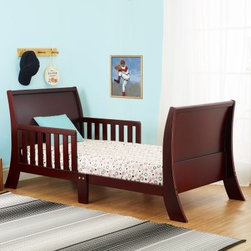 Orbelle Louis Philippe Toddler Bed - The Orbelle Louis Philippe Toddler Bed is a, Solid Wood, Bed for your Toddler. The Original Designed Orbelle Toddler Bed, has a beautiful Curved detail in the Headboard, and Footboard. The Toddler Bed is set at preciously the right height. It has Been Designed, with Beautiful details. It is just the Right Height, so that Your Toddler can Safely get in and out of bed. The Orbelle Toddler Bed Comes Complete with Two Side Safety Rails, therefore preventing, your child from falling out, of the bed while sleeping. The Orbelle Toddler Bed is the perfect transition for toddlers, who have outgrown their cribs, but are still too small for an adult bed. Easy to Assemble. Comes Complete with All Necessary Tools, for Easy Assembly. Mattress and Bedding are Not included.