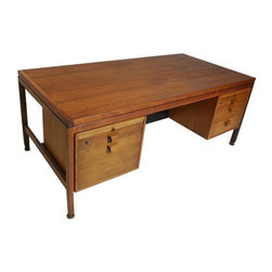 SOLD OUT! Vintage Walnut Executive Desk by Jens Risom - $2,800 Est. Retail - $1, -