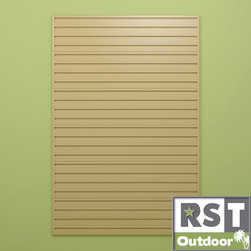 Flow Wall Systems - Flow Wall Maple 24' Panel Pack - These maple modular panels can be mounted onto any wall. The panels are easy to install and are perfect for organization bins, hooks, and other types of units. There are six panels in all, and the neutral tan color will match any type of decor.