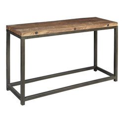 Holbrook Console Table - Rustic wood tones and sturdy iron make this piece an excellent choice for a more masculine room.