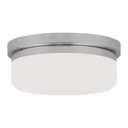 "Livex Lighting - Livex Lighting 7391 11 Inch Wide Flush Mount Ceiling Fixture / Wall Sconce with - Livex Lighting 7391 Two Light Flush Mount Ceiling FixtureA modern take on warehouse style lighting, the Westfield 11"" diameter two light flush mount ceiling fixture features a round hand blown glass shade and a simple metal base. Install on the ceiling or wall and add an industrial chic feel to your home today!Livex Lighting 7391 Features:"