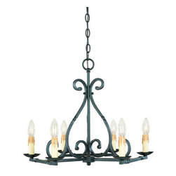 World Imports - World Imports WI61817 Iron Works 6 Light Single Tier Chandelier - Features: