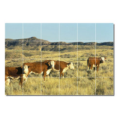 Picture-Tiles, LLC - Farm Animals Photo Kitchen Tile Mural 15 - * MURAL SIZE: 32x48 inch tile mural using (24) 8x8 ceramic tiles-satin finish.