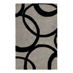 Kaleen - Kaleen Astronomy Gamma Rug - Add big style to your space by rolling out this bold rug. With its swooping abstract pattern and high-energy attitude, this hand-tufted head turner makes a mighty impression.