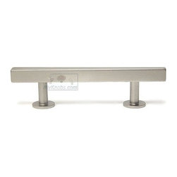 """Lews Hardware Bar Pull Collection - 3"""" (76mm) Bar Pull 5.0"""" O/A in Brushed Nicke -"""