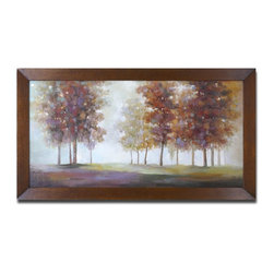 Uttermost - Uttermost Trees In The Mist Framed Art 34224 - Hand painted artwork on stretched canvas. Frame has a bronze undertone with black and brown distressing. Due to the handcrafted nature of this artwork, each piece may have subtle differences.