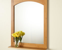 """24"""" Hinsdale Vanity Mirror - The 24"""" Hinsdale Vanity Mirror is the perfect accompaniment to our bamboo vanities and features a graceful arch at top and a convenient shelf."""