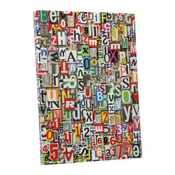 """PingoWorld - Newspaper Clippings. Gallery Wrapped Canvas Print, 30""""x20""""x1.25"""" - Newspaper Clippings. Gallery wrap on archival quality canvas using Epson Ultra-Chrome inks and pine wood frames."""