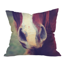 DENY Designs - Allyson Johnson Horse Sense 1 Outdoor Throw Pillow, 18x18x5 - Do you hear that noise? It's your outdoor area begging for a facelift and what better way to turn up the chic than with our outdoor throw pillow collection? Made from water and mildew proof woven polyester, our indoor/outdoor throw pillow is the perfect way to add some vibrance and character to your boring outdoor furniture while giving the rain a run for It's money.