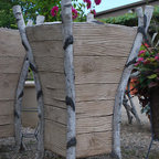 Branch Concrete Faux Bois Birch Upright Planters - Looking for a unique planter with an organic feel? Well, today's your lucky day. This planter is wonderful looking and would be striking as a set flanking a walkway or entry.