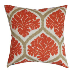 "The Pillow Collection - Priya Floral Pillow Russett 18"" x 18"" - Deliver a fun and chic look to your home by adding this bold throw pillow. Highlighted with a floral pattern in shades of orange, brown and natural, this bright accent pillow brings texture and dimension. With this versatile decor pillow you can mix and match different patterns to make your living room or bedroom vibrant. Made from 100% plush cotton material. Hidden zipper closure for easy cover removal.  Knife edge finish on all four sides.  Reversible pillow with the same fabric on the back side.  Spot cleaning suggested."