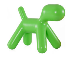 Zuo - Pup Chair, Green - The Pup chair is the perfect pet for any space - especially for the kids.  This durable chair is also low maintenance and is easy to wipe down as needed.  Available in red, green and orange.
