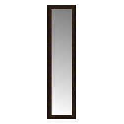 """Posters 2 Prints, LLC - 14"""" x 50"""" Dark Copper Custom Framed Mirror - 14"""" x 50"""" Custom Framed Mirror made by Posters 2 Prints. Standard glass with unrivaled selection of crafted mirror frames.  Protected with category II safety backing to keep glass fragments together should the mirror be accidentally broken.  Safe arrival guaranteed.  Made in the United States of America"""