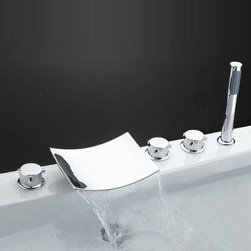 None - Sumerain Bathtub Faucet - The high quality of this Sumerain faucet was designed to bring a modern and fun feel into any room.  The elegant visual appeal of Sumerain's faucets seek to not only entertain,but also for easy usage.