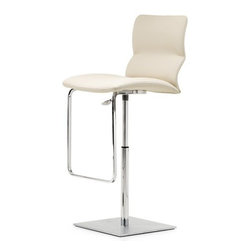 Cattelan Italia - Cattelan Italia   Vito Stool - Made in Italy by Cattelan Italia. Sleek, stylish and practical, the ergonomic design of the Vito Stool is a showcase of Italian artistry and workmanship.  Sharing the qualities of the Vita chair collection, its slender yet curvy physique is upholstered in luxurious leather, offering superior comfort. Built with enhanced utility, the stool features a height adjustable and swivelling seat.  Both fashionable and functional, the chromed steel footrest and square base complement the chic look. This masterpiece will bring a touch of elegance to any modern kitchen or bar. Choose from a premium selection of leather options.