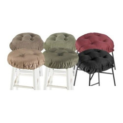 Klear-vu Corporation - Twillo Bar Stool Cover - This attractive, cushioned bar stool cover offers comfortable seating for your stools.
