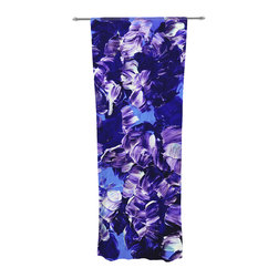 "Kess InHouse - Ebi Emporium ""Floral Fantasy"" Purple Decorative Sheer Curtain - Let the light in with these sheer artistic curtains. Showcase your style with thousands of pieces of art to choose from. Spruce up your living room, bedroom, dining room, or even use as a room divider. These polyester sheer curtains are 30"" x 84"" and sold individually for mixing & matching of styles. Brighten your indoor decor with these transparent accent curtains."
