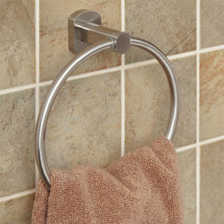 Marlton Towel Ring - With a chrome finish, the Marlton Collection Towel Ring is a shining new addition to your bath. Match the towel ring with other solid brass Marlton accessories.