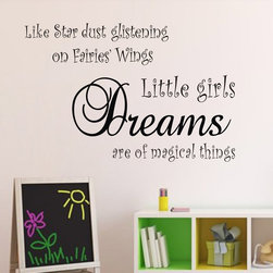 ColorfulHall Co., LTD - Wall Decals For Kids Little girls Dreams are Of Magical Things - Wall Decals For Kids Little girls Dreams are Of Magical Things