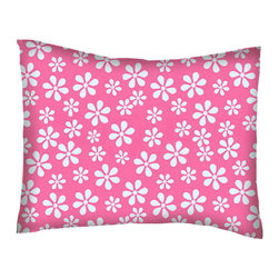SheetWorld - SheetWorld Twin Pillow Case - Percale Pillow Case - Primary Pink Floral Woven - Twin pillow case. Made of an all cotton flannel fabric. Side Opening. Features the one and only primary pink floral woven!