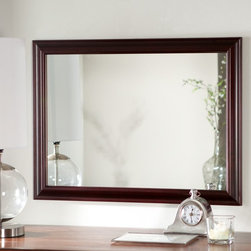 Decor Wonderland - Mateo Wall Mirror - 32W x 24H in. - SSM73 - Shop for Bathroom Mirrors from Hayneedle.com! The Mateo Wall Mirror is a simple way to add light elegance and interest to any room. Hang this generously-sized mirror vertically or horizontally to best suit your space. The solid wood frame is finished in a rich mahogany color that's great for hallways living rooms or even bathrooms. Constructed from 3/16-inch glass with beveled borders this mirror is backed with double-coated silver metal and has seamed edges to remove sharpness. It comes ready to hang with all mounting hardware included. Measures 31.5H x 23.5W x 1D inches.