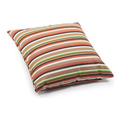 ZUO - Hamster Outdoor Pillow - Large - Earthy stripes warm up the Hamster Pillow. Water resistant fabric makes it perfect for the outdoors. Toss by the fire pit or under a tree with a blanket for a picnic. Comes in small or large.
