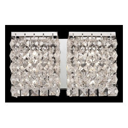 Z-Lite - Z-Lite 184-2V Waltz 2 Light Bathroom Vanity Light - Glimmering crystal shades define this sophisticated two light vanity, and sparkle beautifully against polished chrome hardware. Specifications: