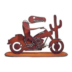 Buzzard Biker Sculpture by Henry Dupere - This biker may not be for everyone but he sure does have character. I like how he seems to have a grin on his face riding down the highway.
